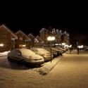Гостиничный комплекс Буковель - парковка ночью