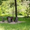 Санаторий Хмельник - беседка в парке